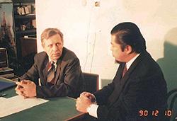ロシア科学アカデミーにて科学者との会議